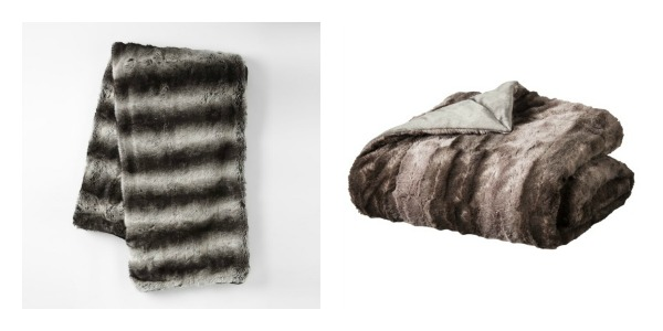 splurge vs steal grey ombre fur throw