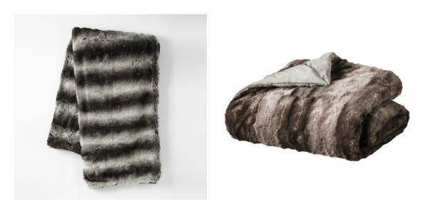 splurge vs steal grey ombre fur throw