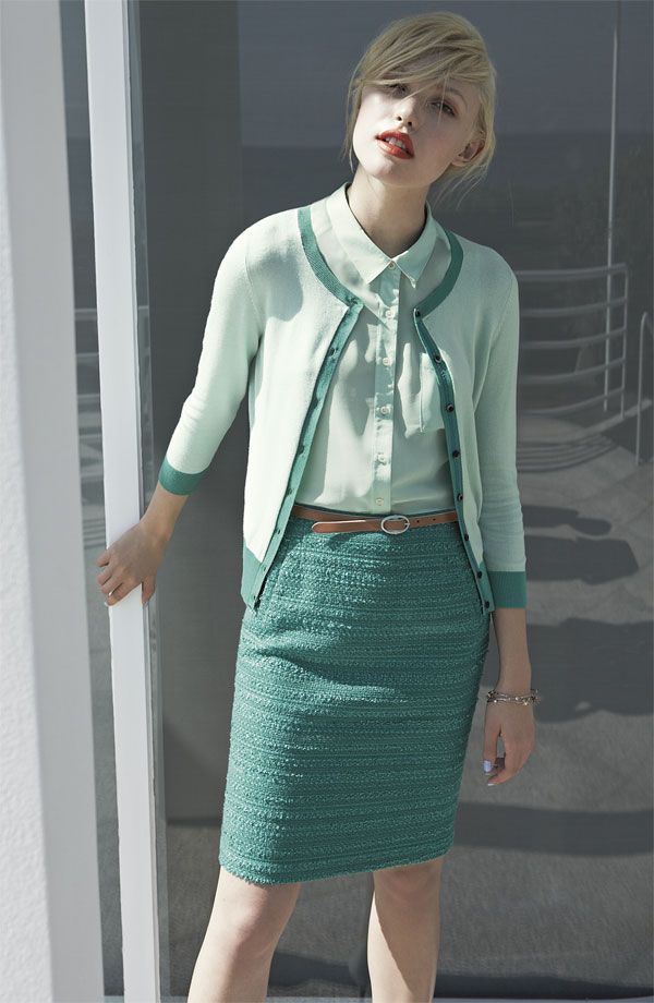 nordstrom halogen emerald green outfit