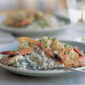 lime shrimp and coconut rice via Williams-Sonoma