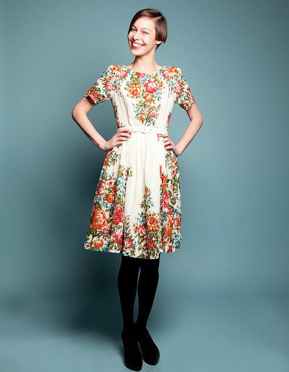 mrspomeranz woolen shawl flower dress