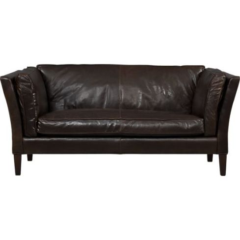brooks-leather-settee crate and barrel