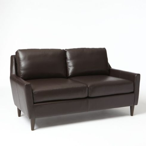 everett leather loveseat west elm