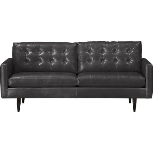 petrie-leather-76-apartment-sofa gray leather Crate & Barrel