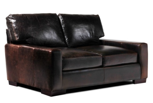 tobacco leather loveseat living spaces
