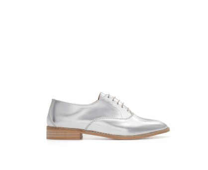 zara silver metallic oxford