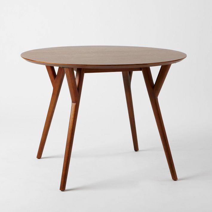 parker midcentury round dining table west elm Stick Girl JAM