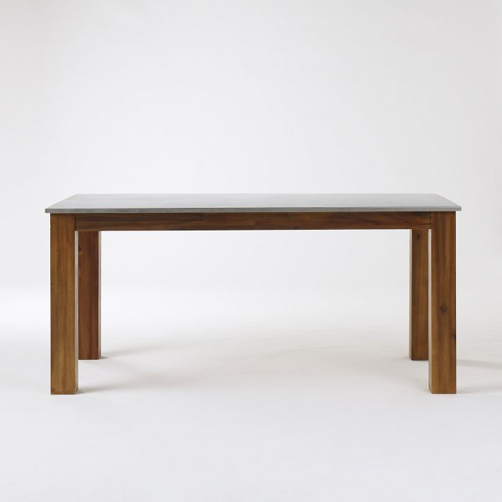 rustic kitchen rectangular dining table from west elm