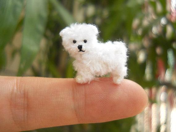maltese SuAmi crochet miniature