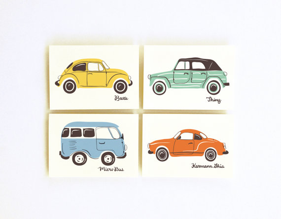 little low studio car prints