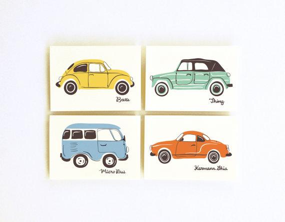 little low studio car prints