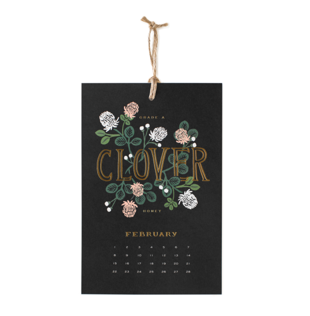 Rifle Paper Co honey bee wall calendar 2015