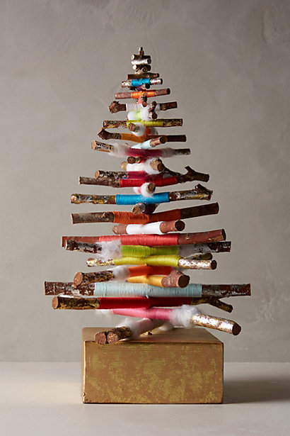 diy or buy cozy kindling mini tree via Anthropologie