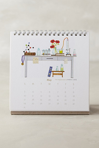 imagined desk calendar
