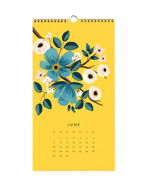 rifle paper co Les Fleurs calendar