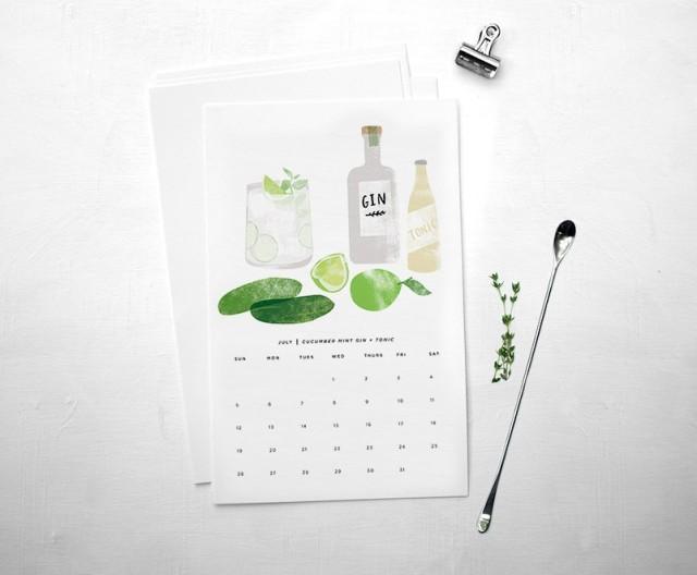 stir and shake calendar via redcruiser